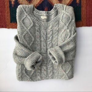 • Sonoma • Gray knit speckled crew neck sweater. M